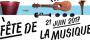 Fête de la musique 2017, mercredi 21 juin à partir de 19h30