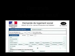 cadre demande logement social